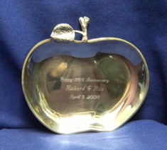 Apple Tray Silver Plated
