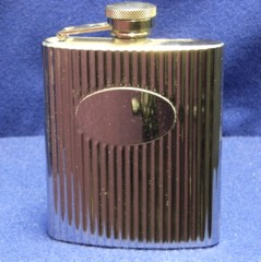 Ribbed Design Flask